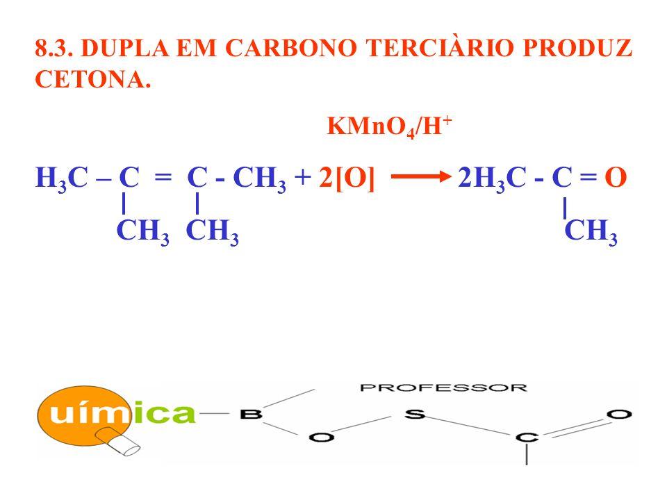 H3C – C = C - CH3 + 2[O] 2H3C - C = O CH3 CH3 CH3